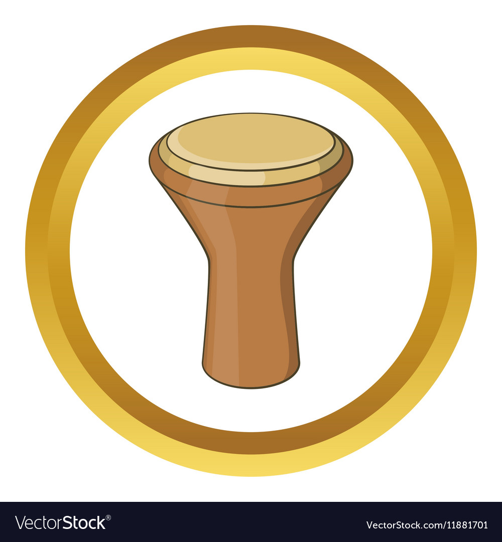 Darbuka musical instrument icon vector image