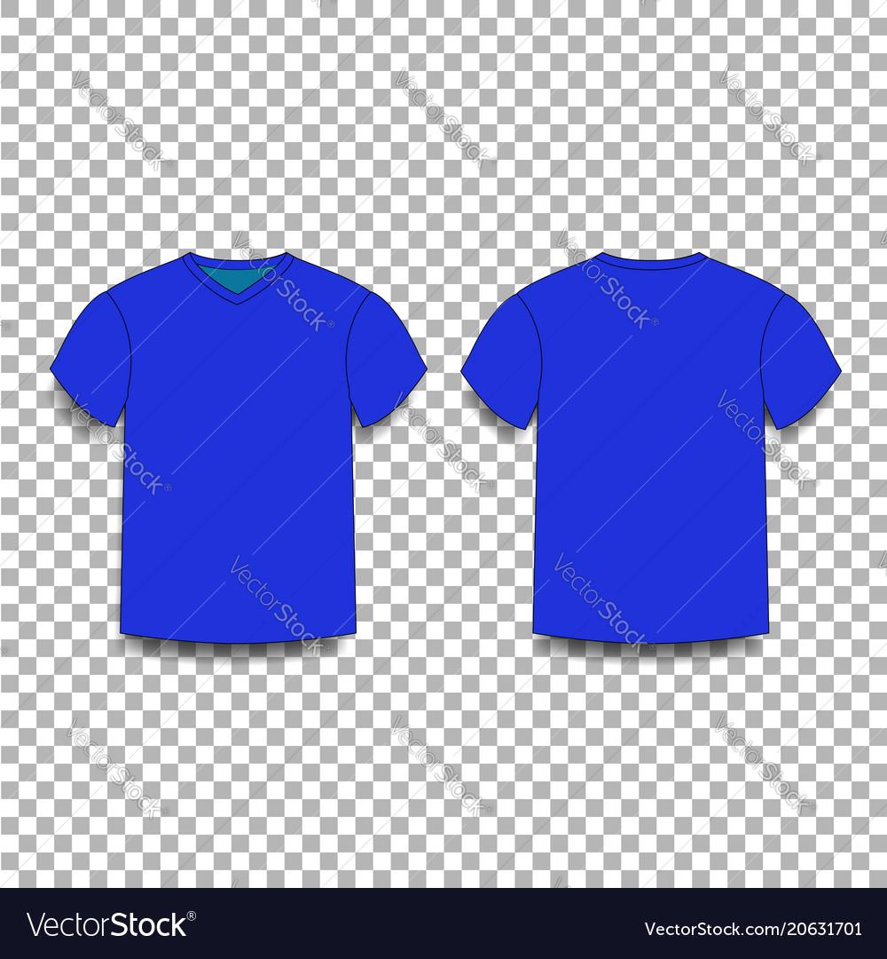 Dark Navy Blue Men S T Shirt Template V Neck