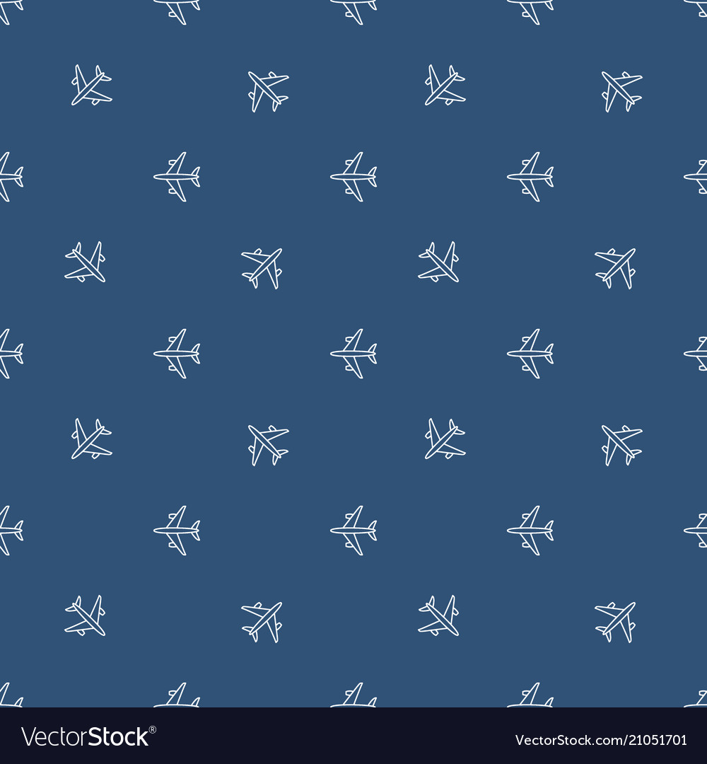 Seamless plane pattern