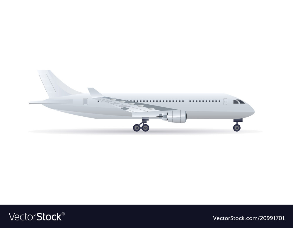 Side view jet airplane isolated icon