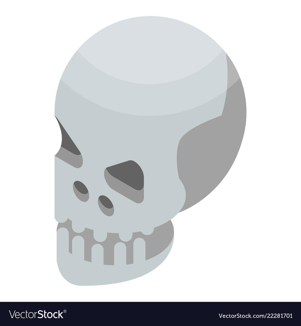 Skull icon isometric style