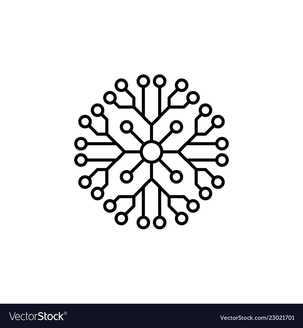 Snowflake icon christmas and winter theme simple