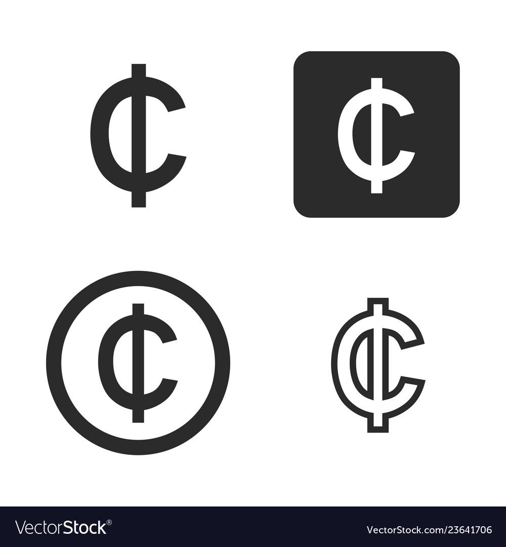Cedi currency symbol set