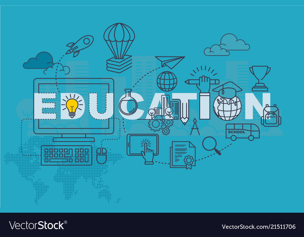 Education Banner Background Design Concept Vector Image