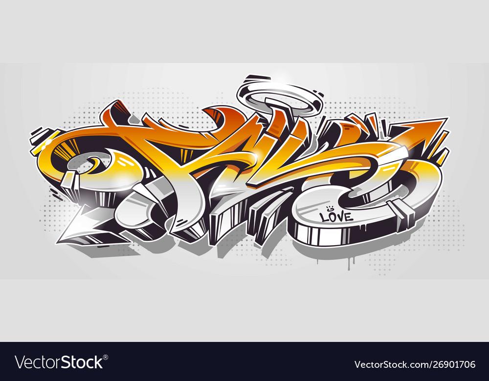 Fall graffiti wild style