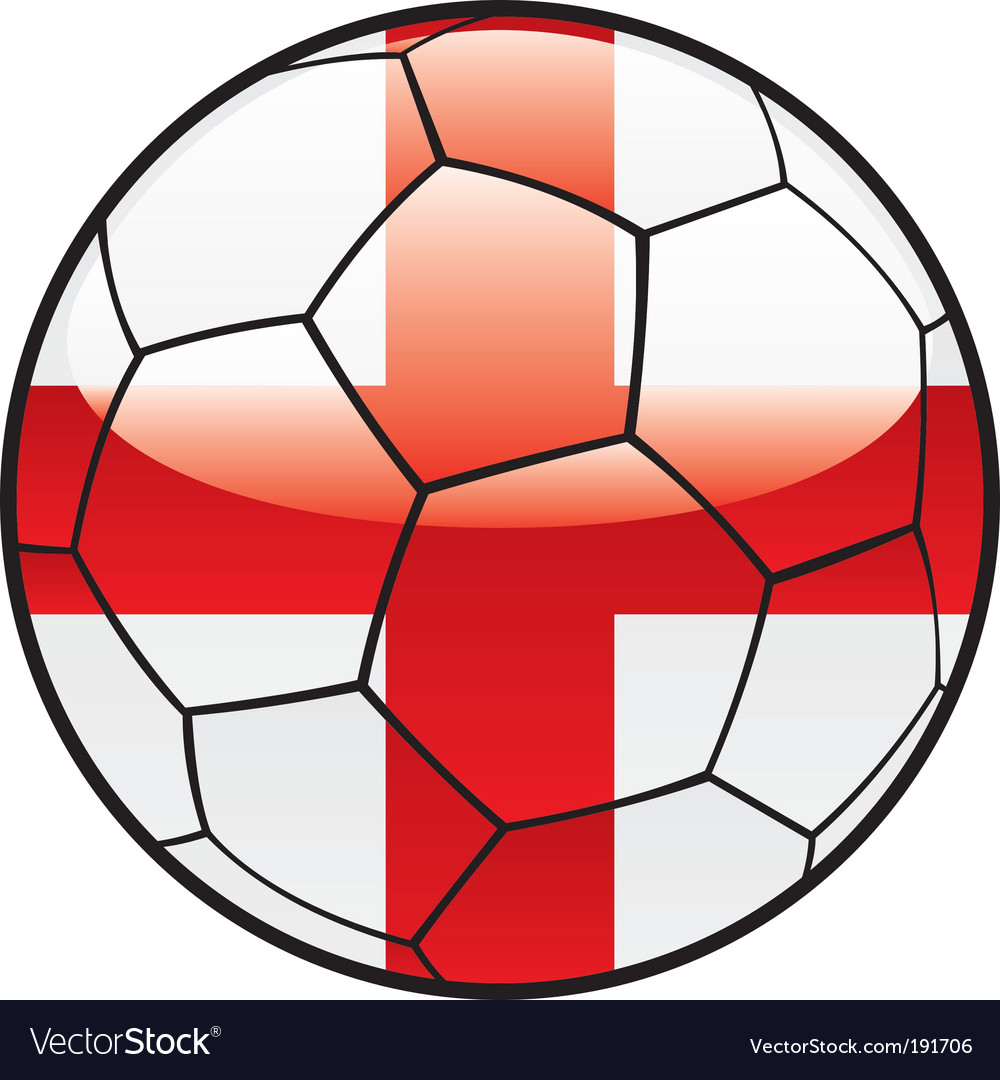 Flag of England on soccer ball vector image