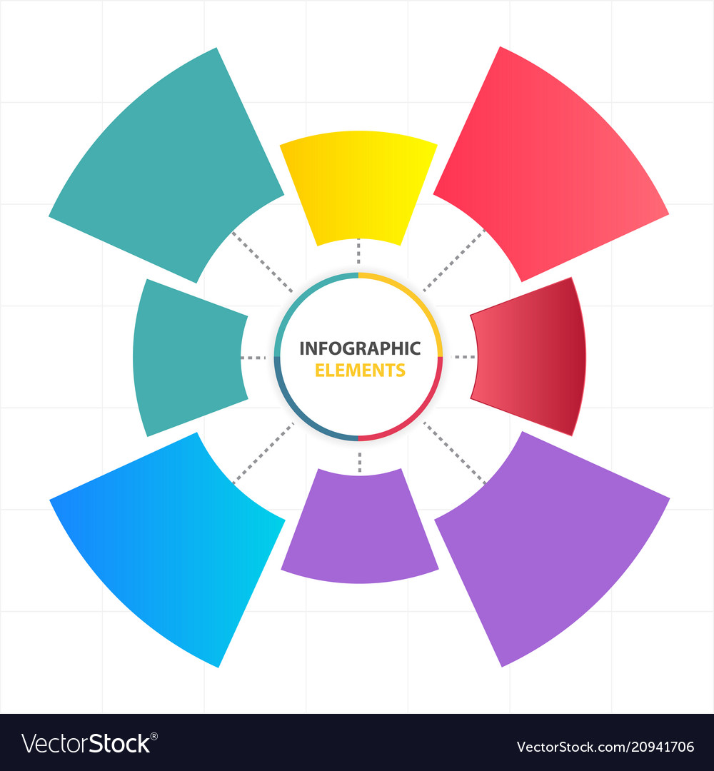 Modern circle infographic elements template