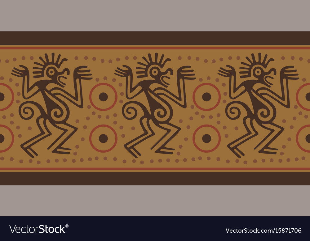 Seamless border in indian style