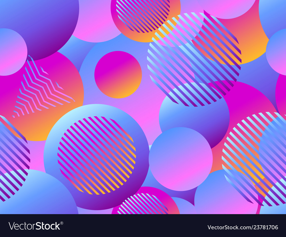 Seamless pattern with circles futurism retro