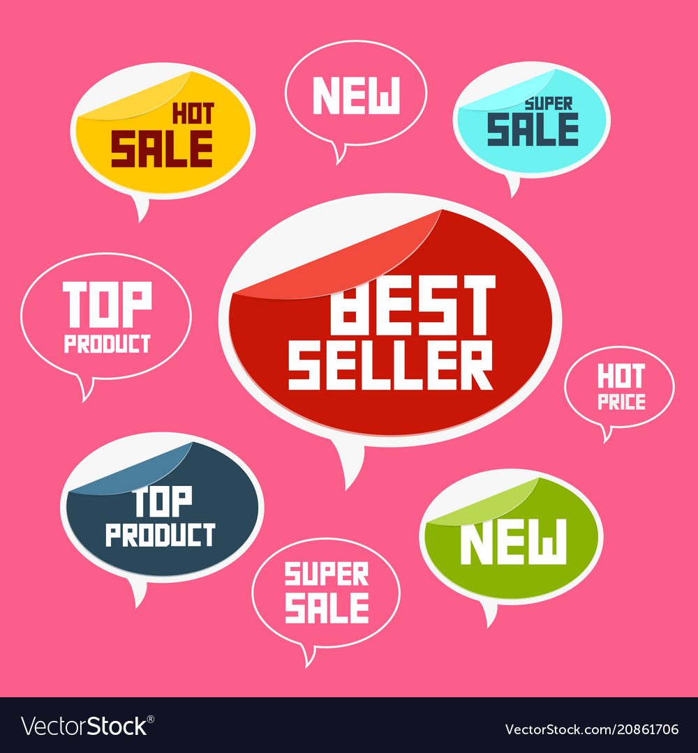 Top product best seller new flat labels