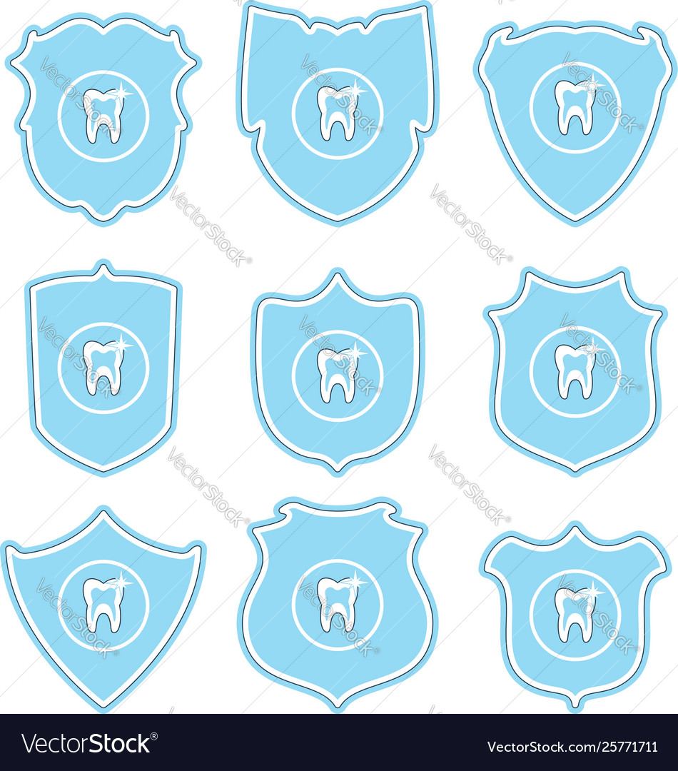 Collection tooth protect icons