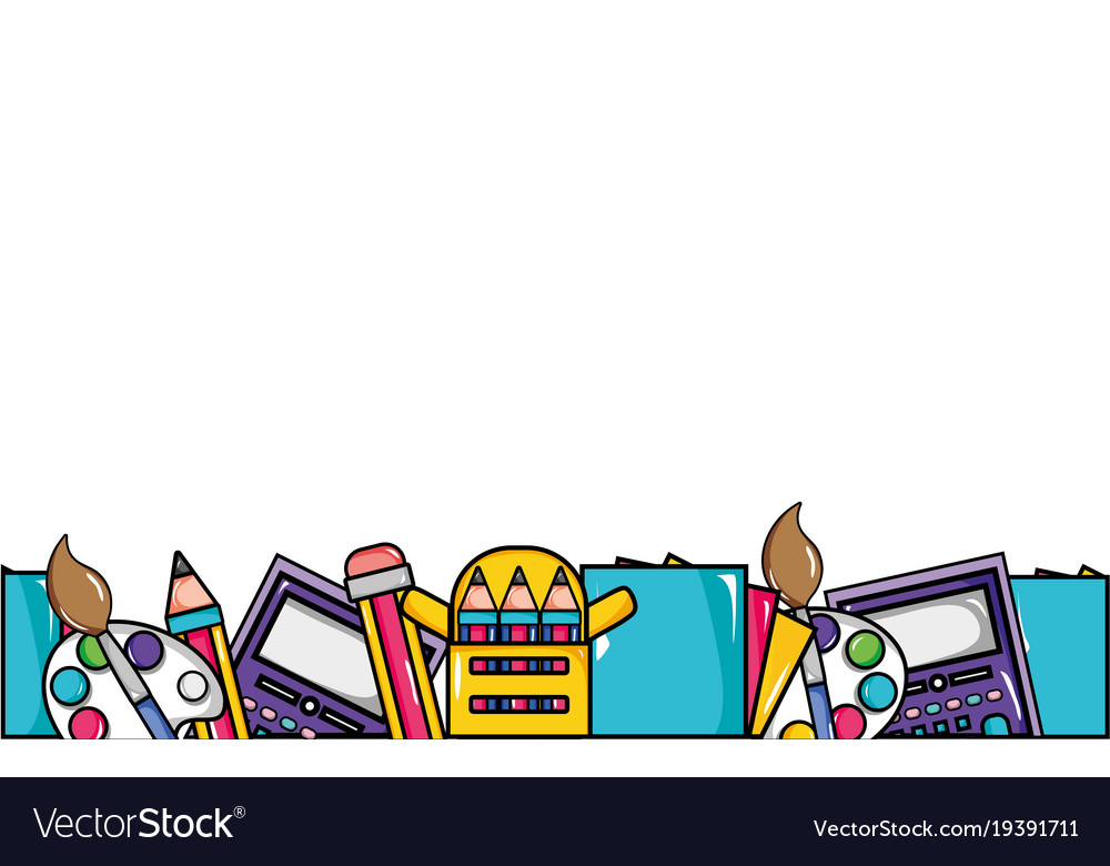 Education school tools background design Vector Image