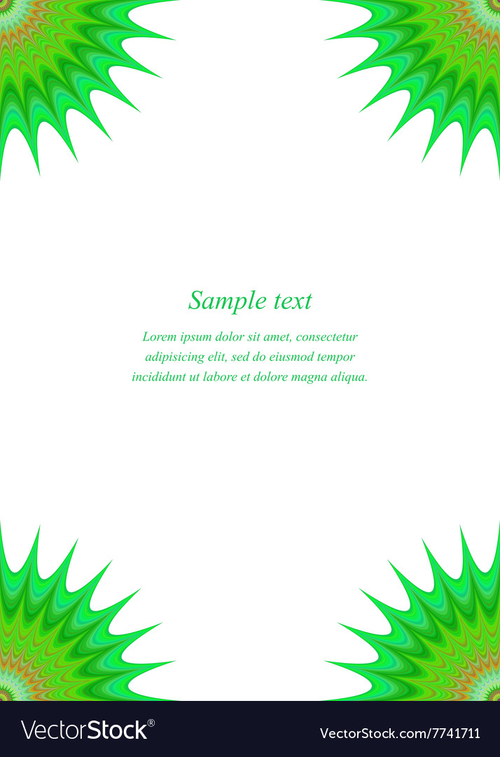 Green star page corner design template