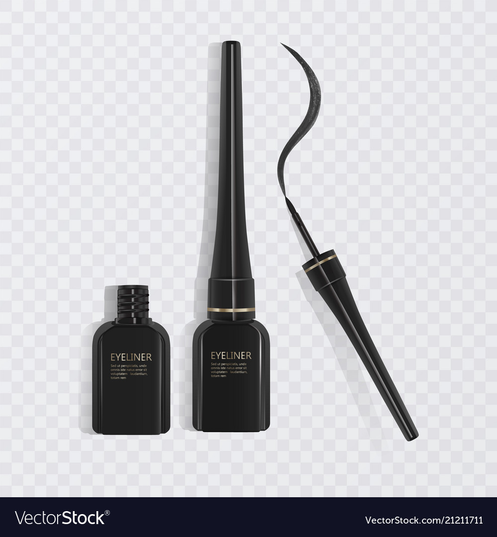 Importanza stimolare Clan  Liquid eyeliner set eyeliner product mockup for Vector Image
