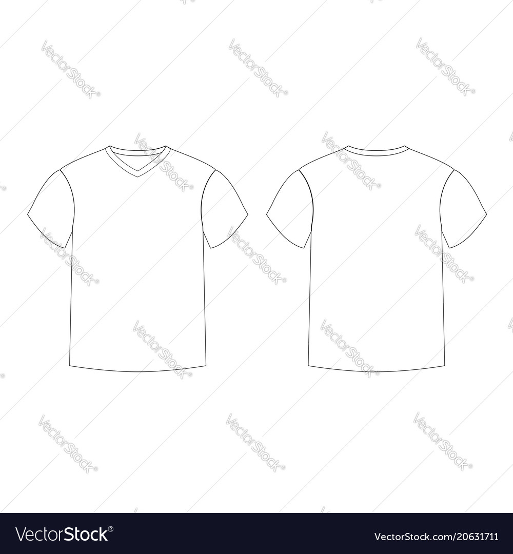 Male outline template
