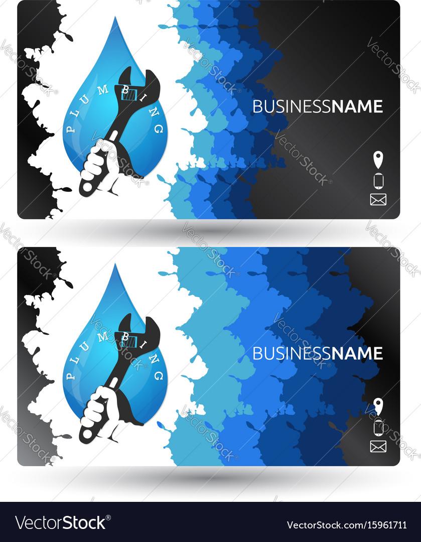 Plumbing business card design royalty free vector image plumbing business card design vector image colourmoves