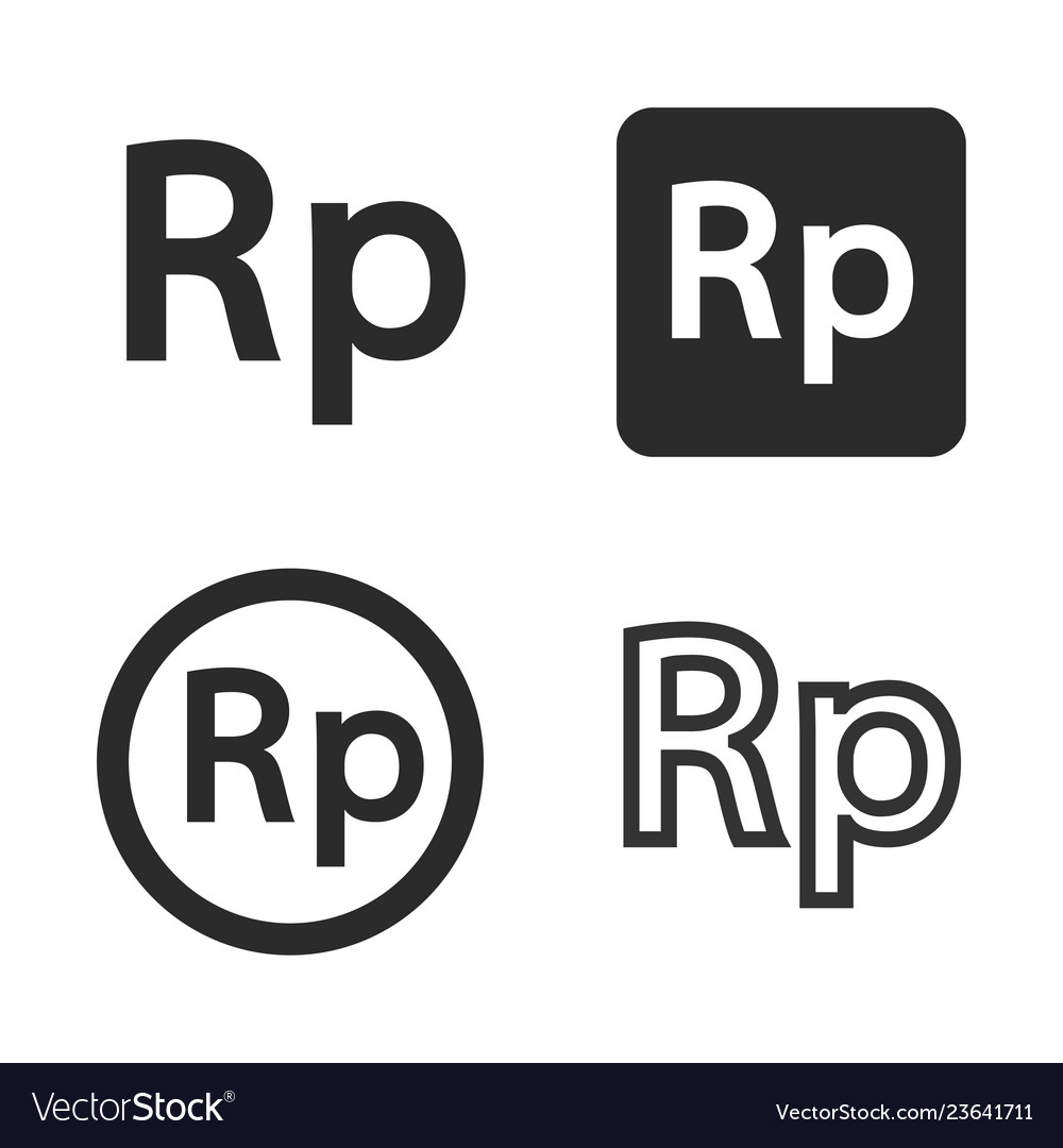 rupiah currency symbol set royalty free vector image vectorstock