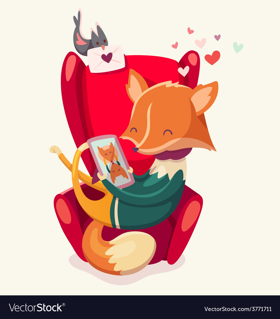 Valentine fox vector