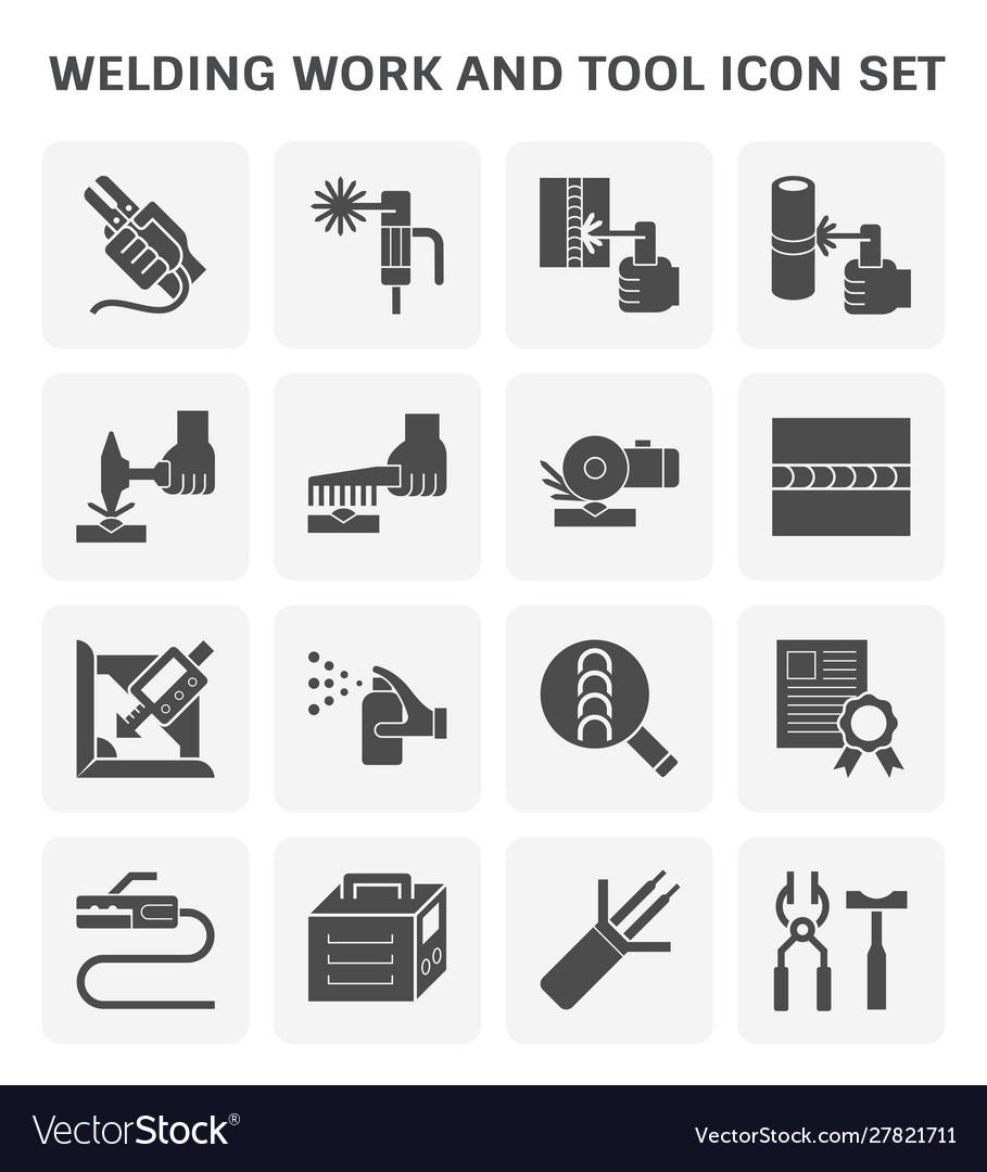 Welding work icon