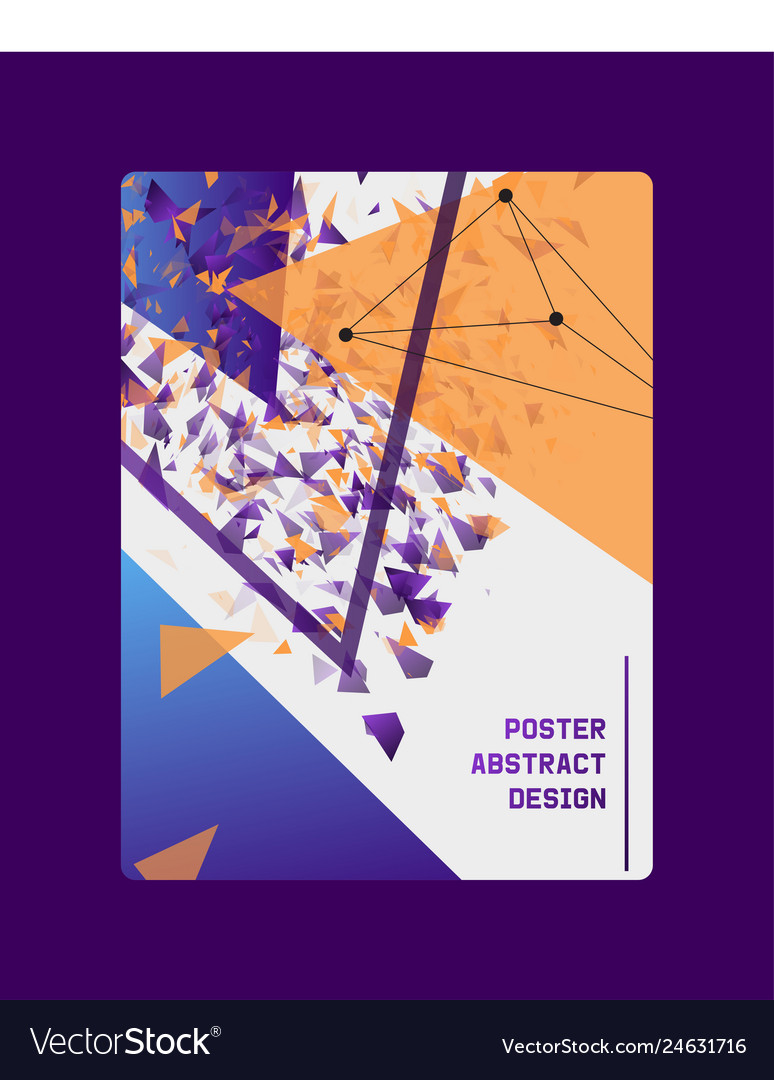Abstract design banner card poster