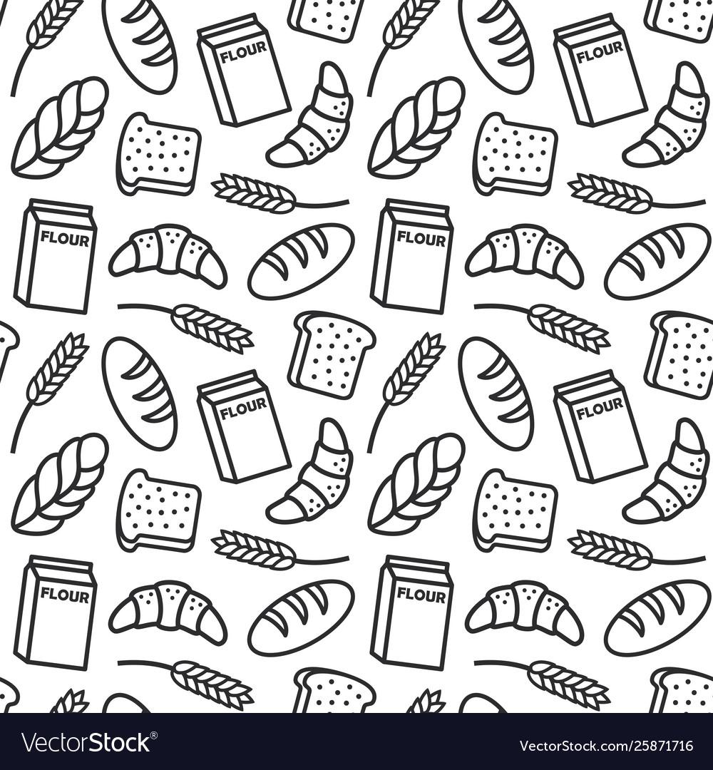 Bakery pattern outline