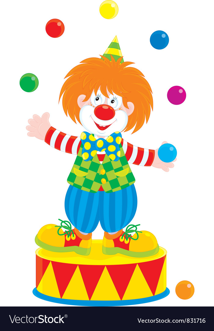 Circus clown juggler vector image