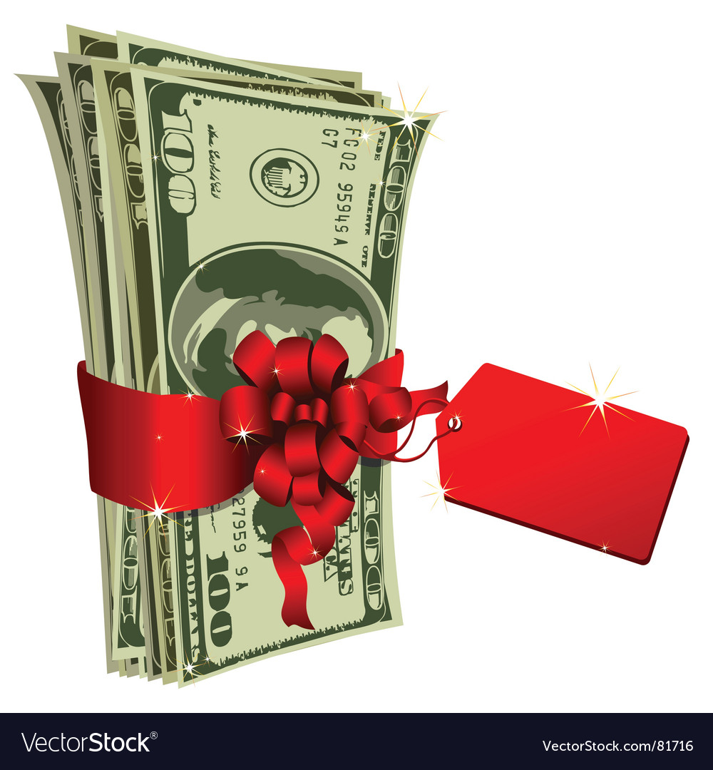 Dollar gift vector image