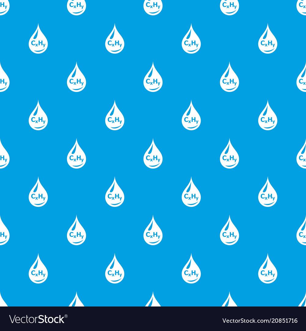 Drop oil pattern seamless blue