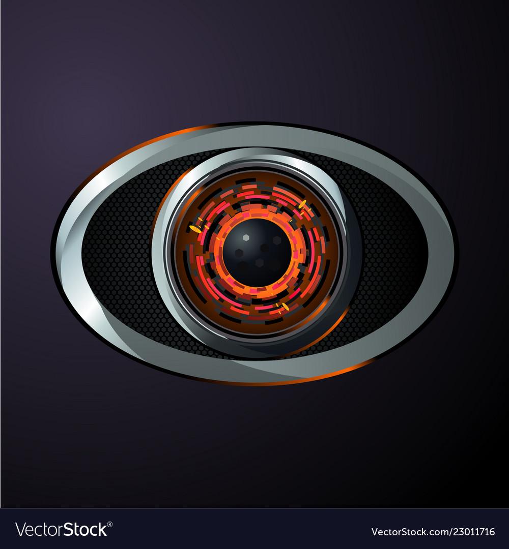 Robot eye material design style digital data