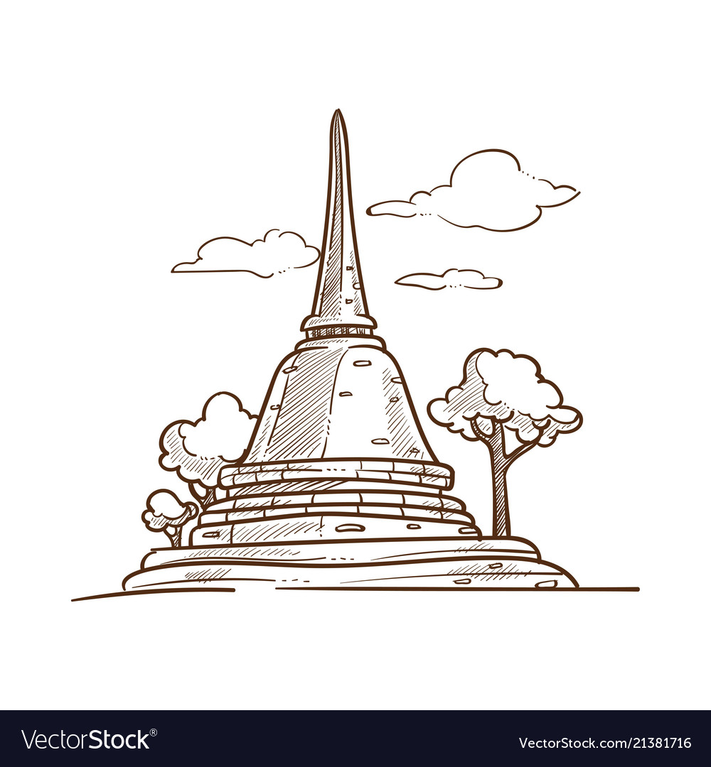 Thailand pagoda culture and travel symbol