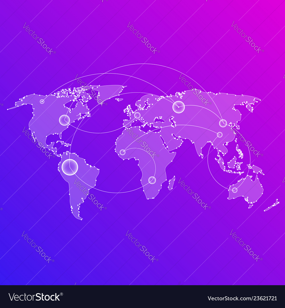 Abstract digital of the world map in