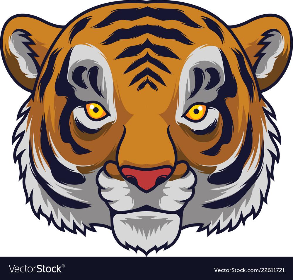 Cartoon tiger head mascot