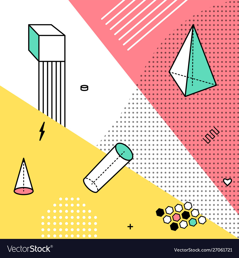 Color pattern with geometric graphic elements