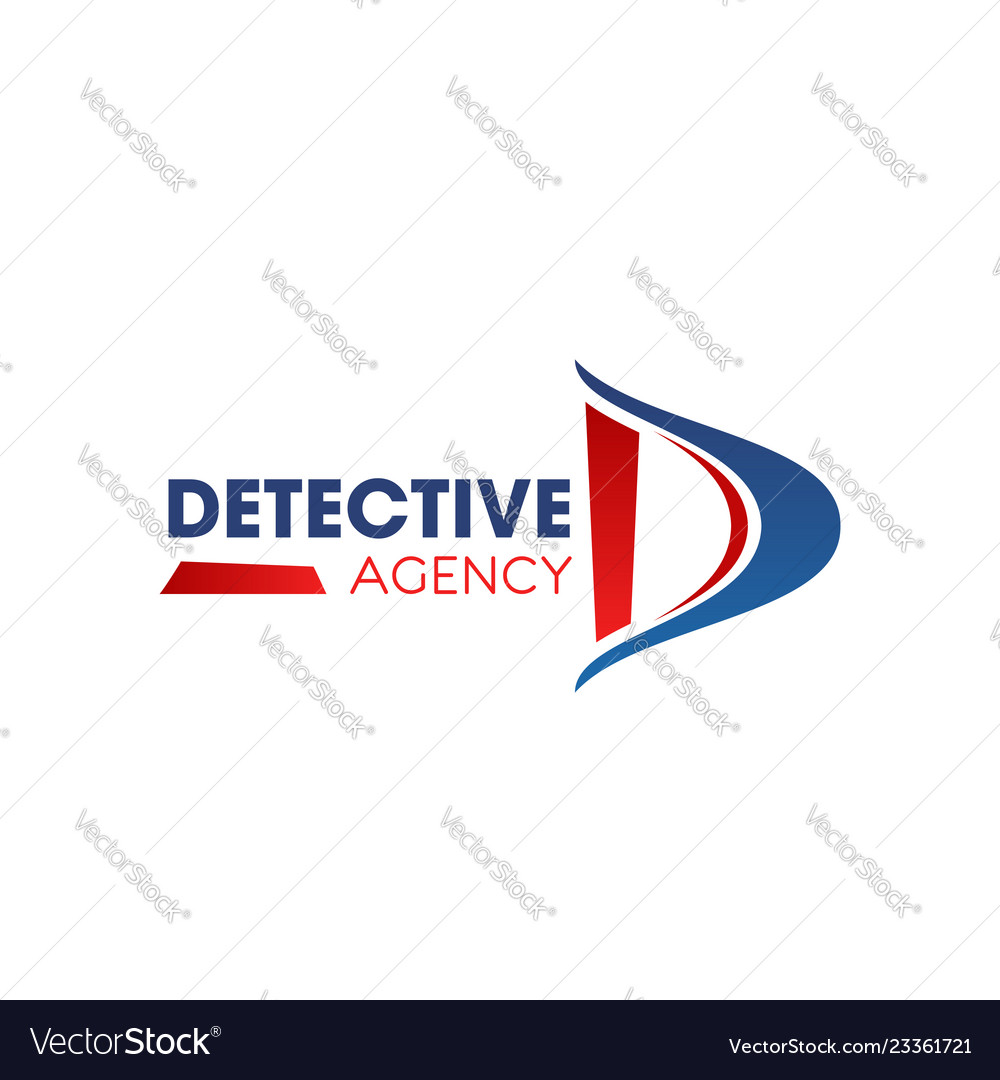 D letter icon for detective agency