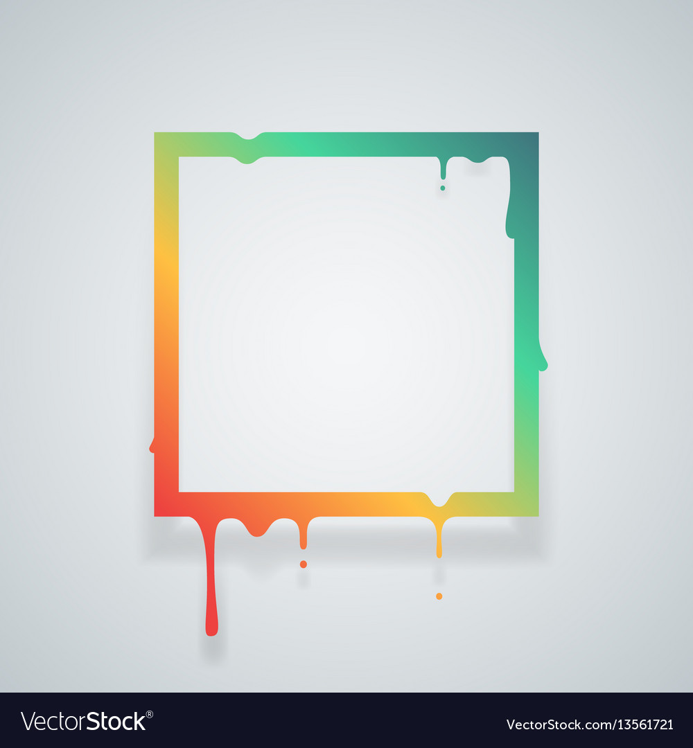Flowing art flux square drop leak abstract design