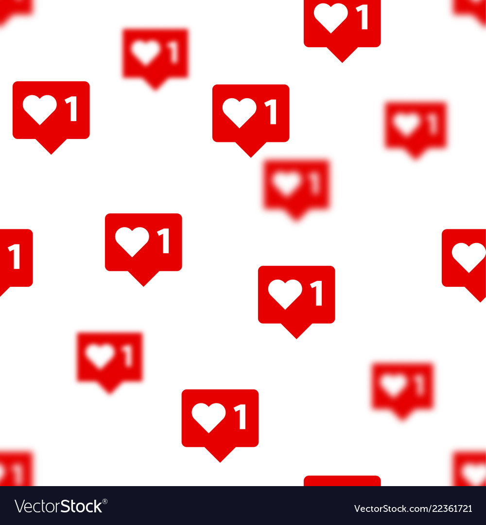 Like vith heart icons background social