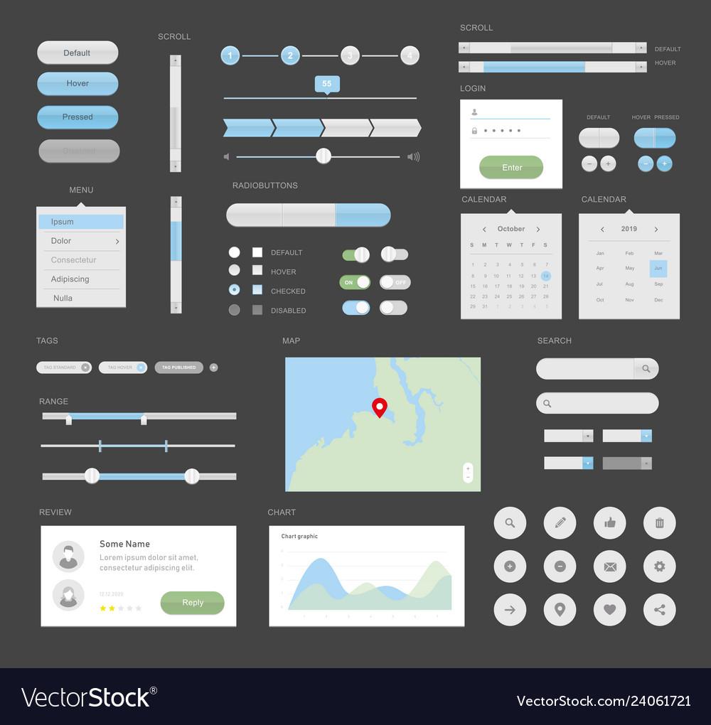 Mega ui for desktop or apps interface design