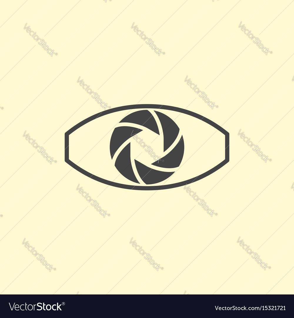 Photography logo design eye vector image