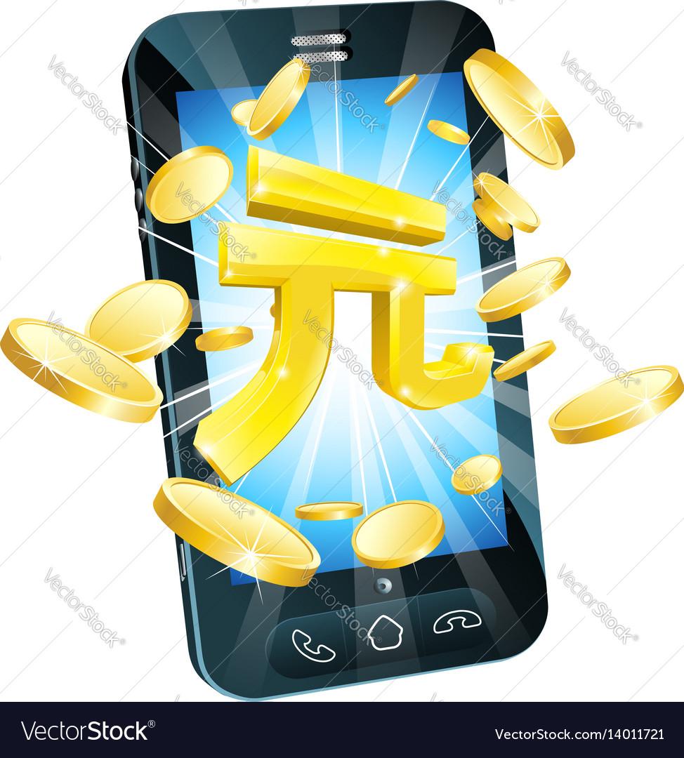 Yuan money phone concept
