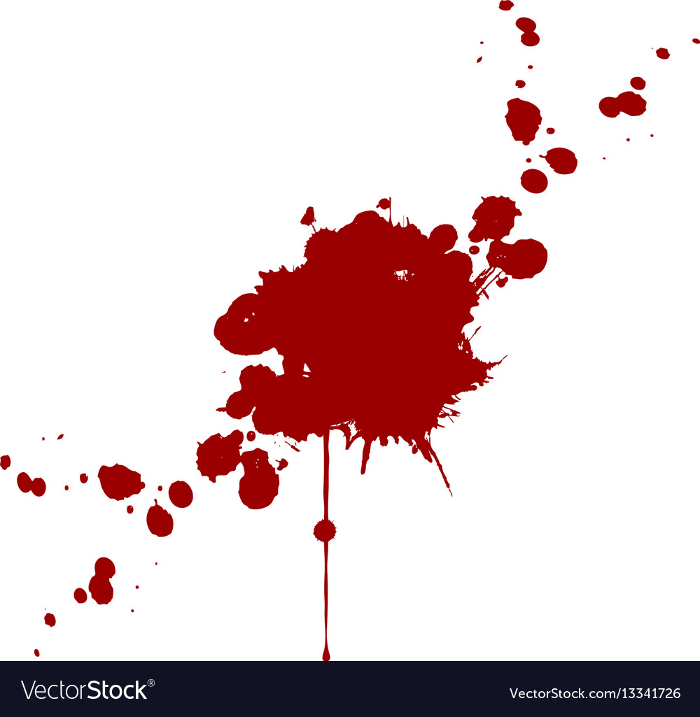 Blood splatter isolated design vector image