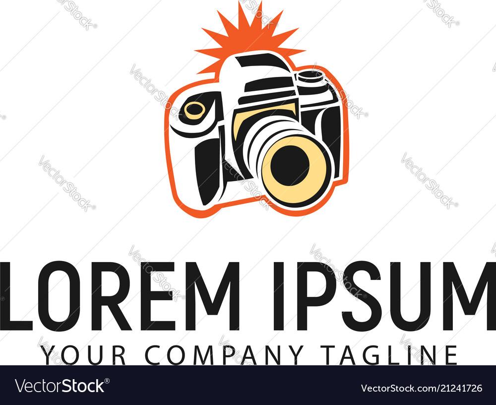 Camera logo design concept template vector image
