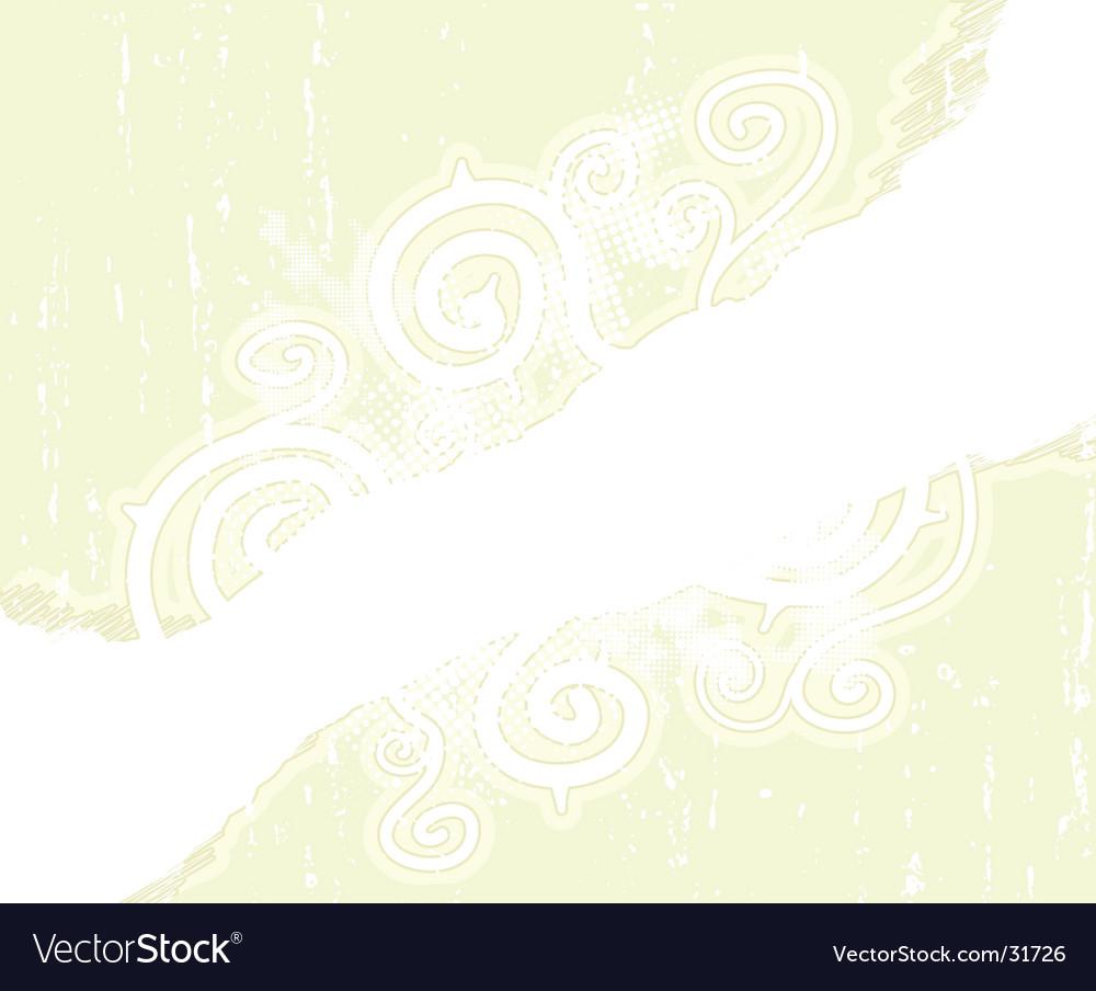 Childish floral spirals scribble background vector image