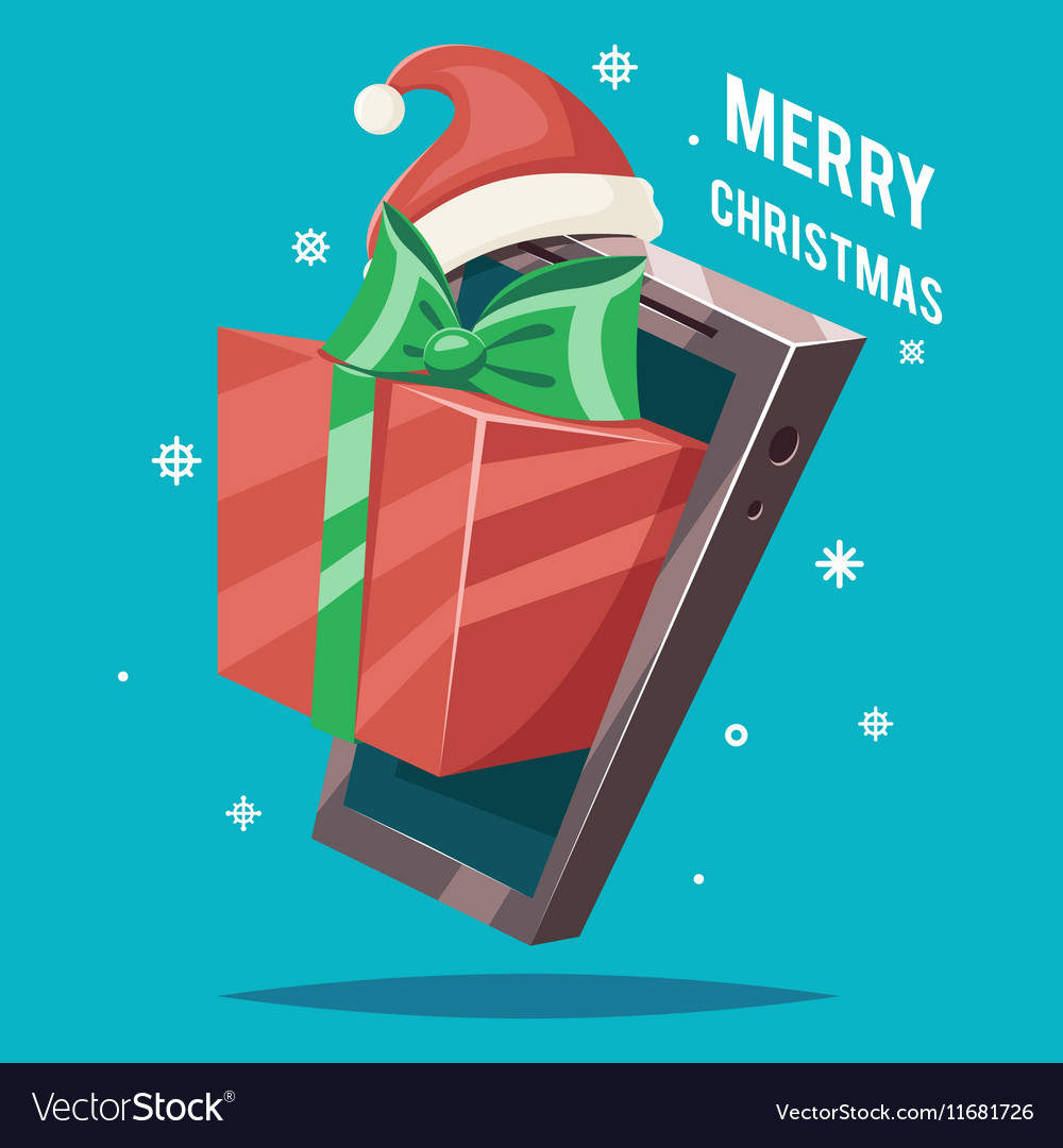 Christmas New Year Greating Gift Card Mobile Phone