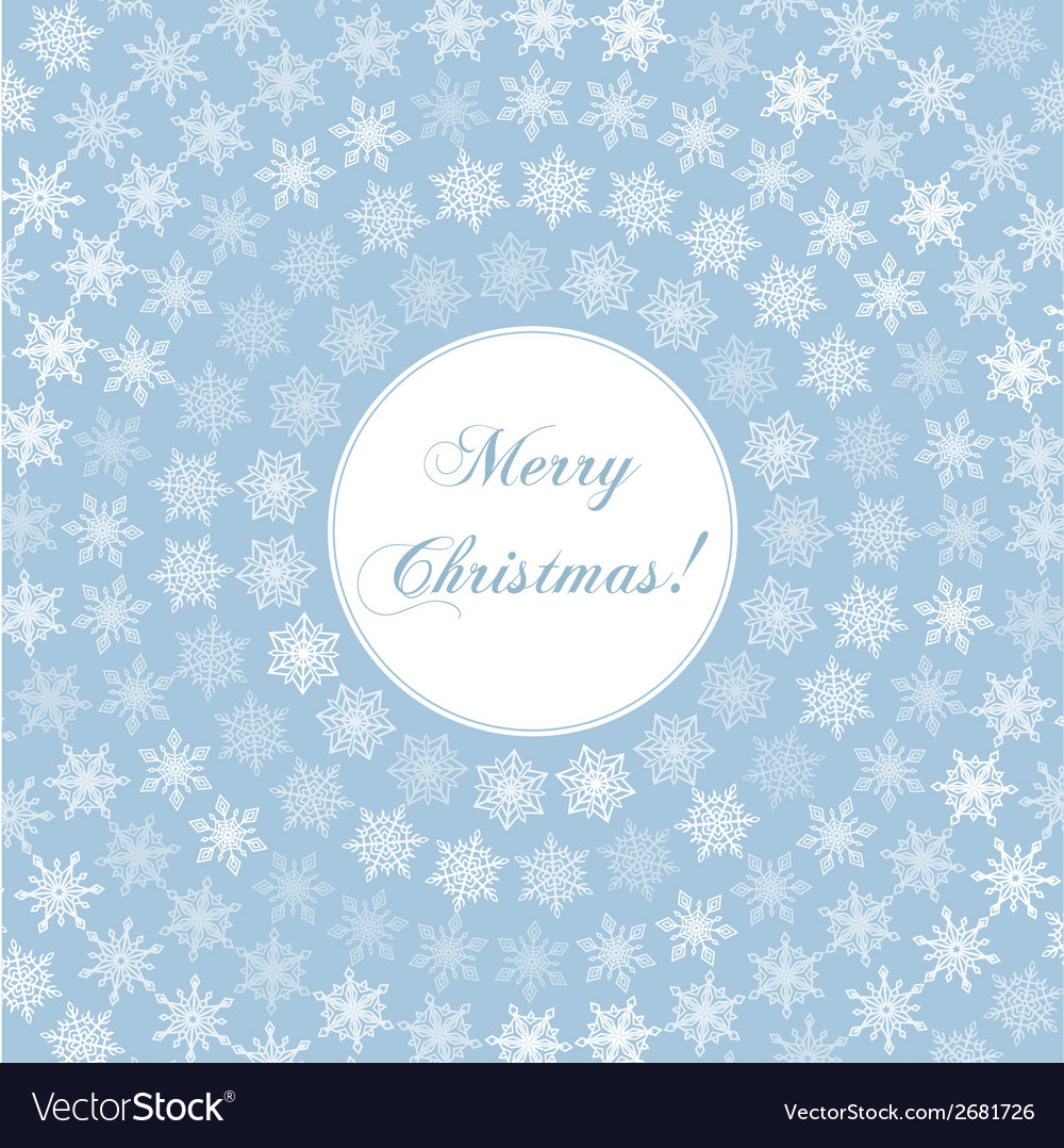 Delicate merry christmas greeting card with words vector image m4hsunfo