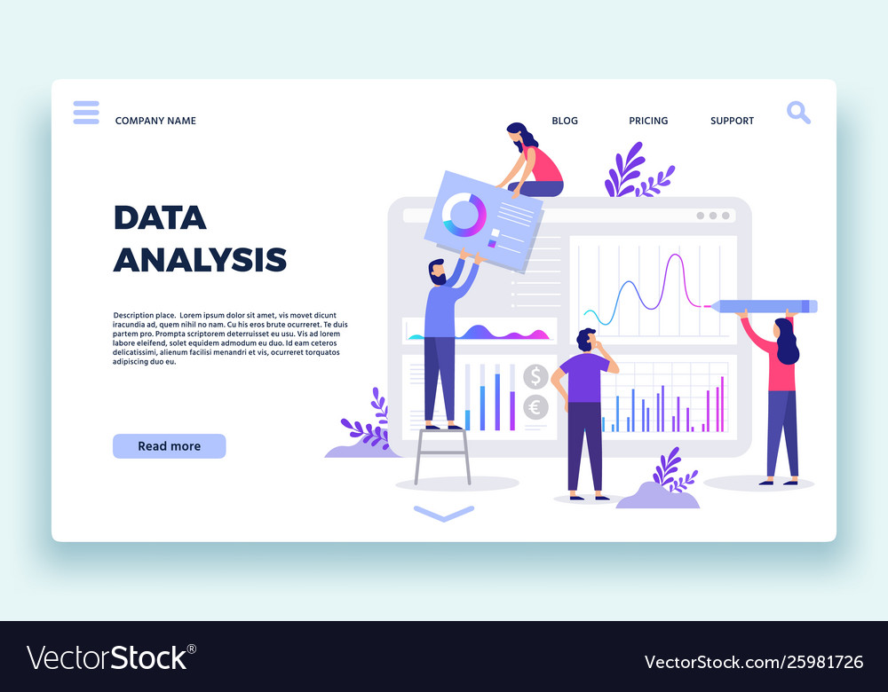 Finance analyst landing page stock market