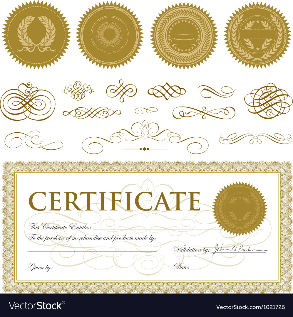 Formal certificate template royalty free vector image formal certificate template vector image yelopaper Images
