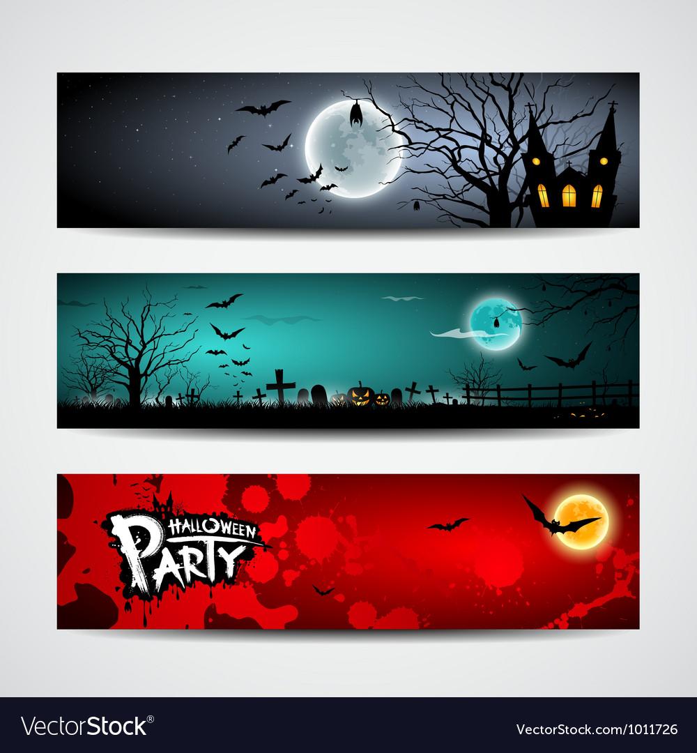 Happy Halloween day banner set design