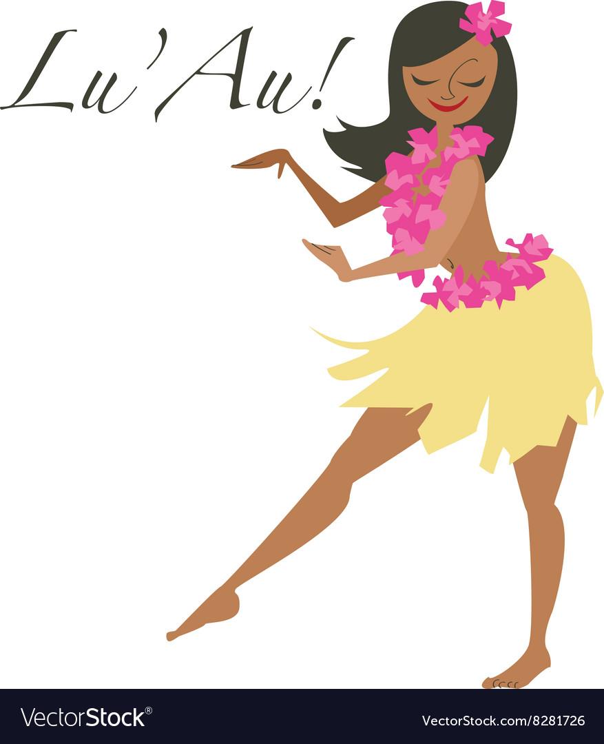 Lu Au Girl vector image