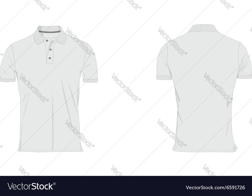 Mens polo tshirt template vector image