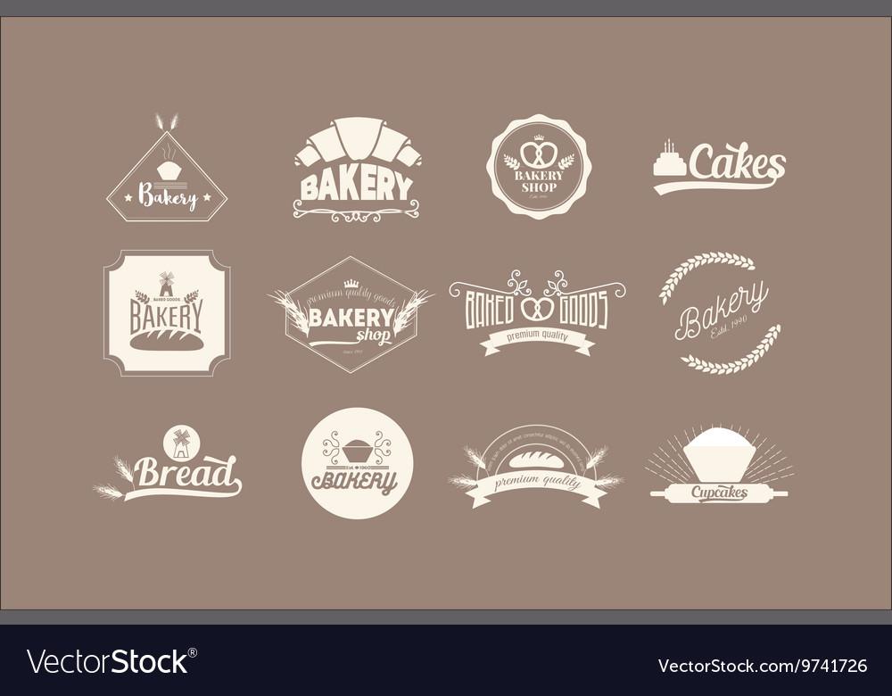 Set of bakery Logos